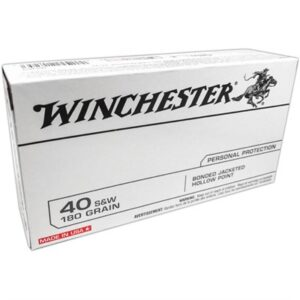 Winchester 40 S&W 180 Gr Bonded JHP (50)