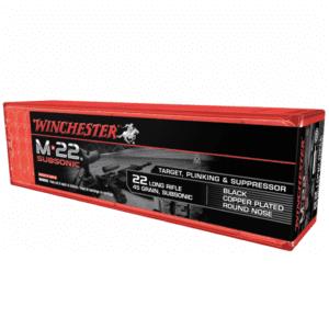 Winchester 22 LR 45 Gr M-22 Sub Sonic Black Copper RN (100)