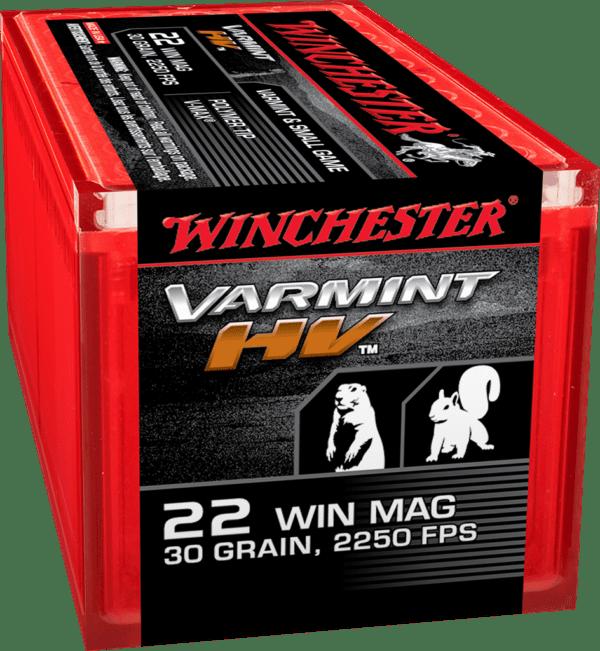 Winchester 22 WMR Mag 30 Gr JHP Polymer Tip Varmint HV (50)