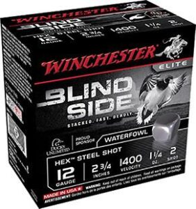 "Winchester 12 Gauge 2.75"" 1-1/4 oz 2 Shot Blindside (25)"