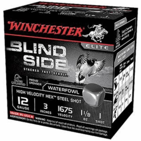 """Winchester 12 Gauge 3"""" 1-1/8 oz 1 Shot Blindside (25)"""
