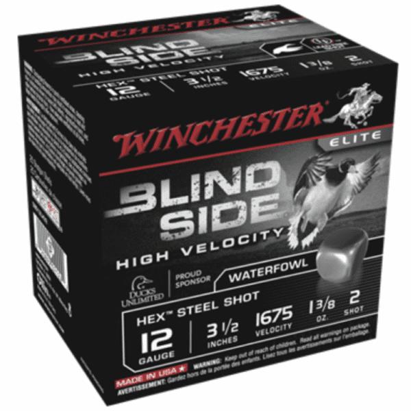 """Winchester 12 Gauge 3.5"""" 1-3/8 oz 2 Shot Blindside (25)"""