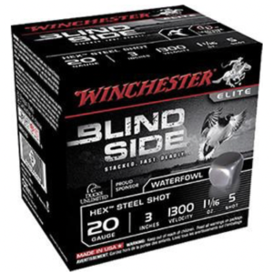 "Winchester 20 Gauge 3"" 1-1/8 oz 5 Shot Blindside (25)"