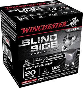 """Winchester 20 Gauge 3"""" 1-1/8 oz 5 Shot Blindside (25)"""
