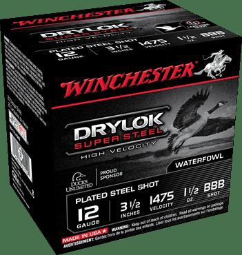 "Winchester 12 Gauge 3.5"" 1-1/2 oz BBB Shot Supreme Hi-Velocity (25)"