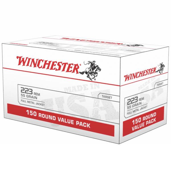 Winchester 223 Rem 55 Gr FMJ VALUE PACK (150)