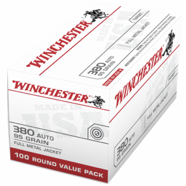 Winchester 380 Auto ACP 95 Gr FMJ Value Pack (100)