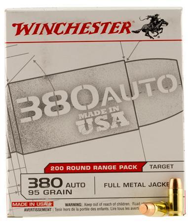 Winchester 380 Auto ACP 95 Gr FMJ Range Pack (200)
