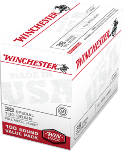 Winchester 38 Special 130 Gr FMJ Value Pack (100)