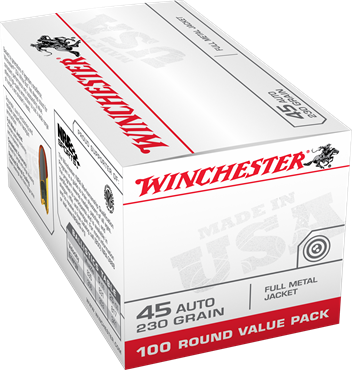 Winchester 45 Auto 230 Gr FMJ Value Pack (100)