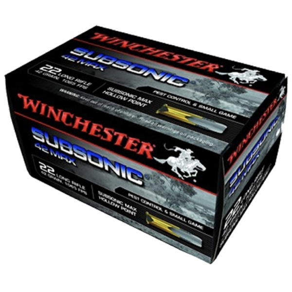 """Winchester 22 LR 42 Grain """"42 Max"""" Subsonic (50)"""