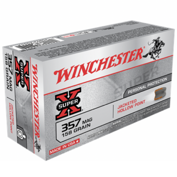 Winchester 357 MAG 158 Gr JHP Super X (50)