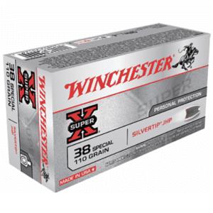 Winchester 38 Special 110 Gr Silver Tip JHP Super X (50)