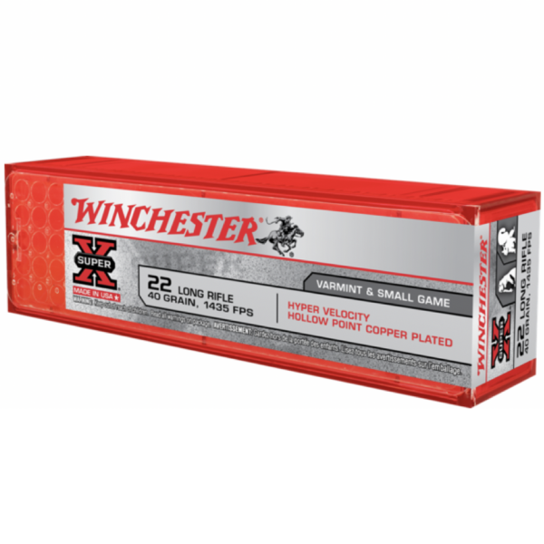 Winchester 22LR 40 Gr Plated HP (100)