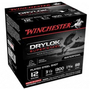 "Winchester 12 Gauge 3.5"" 1-5/8 oz BB Shot Drylok (25)"