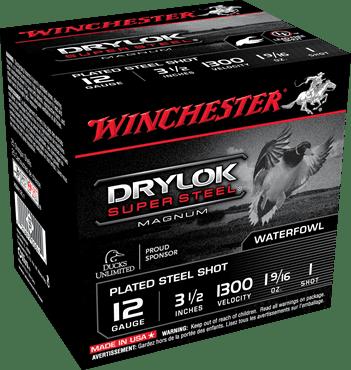 "Winchester 12 Gauge 3.5"" 1-5/8 oz 1 Shot Drylok (25)"