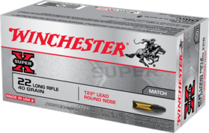 Winchester 22 LR 40 Grain Lead Round Nose (50) Super X Target