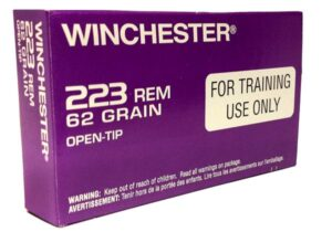 Winchester 223 62 Grain Open Tip LE Training Round (20)
