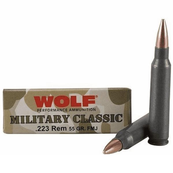 Wolf 223 Rem 55 Gr FMJ Military Classic (20)