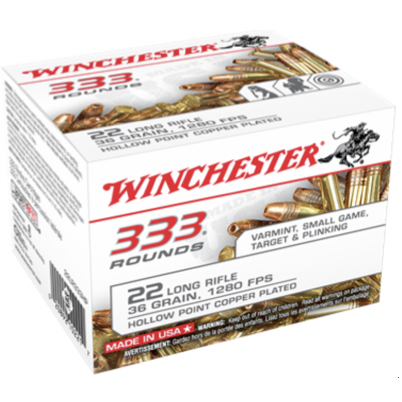 Winchester 22 LR 36 Grain Hollow Point (333)