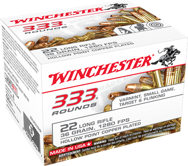 Winchester 22 LR 36 Grain Hollow Point (333)