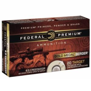 Federal 6.5 Creedmoor 130 Gr Gold Medal Berger Hybrid VLD (20)