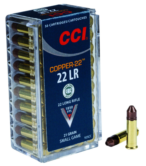 CCI 22 LR 21 Gr HP Copper-22 (50) (Lead Free)