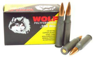 Wolf 308 Win/7.62 Nato 145 GR FMJ PolyFormance (20)