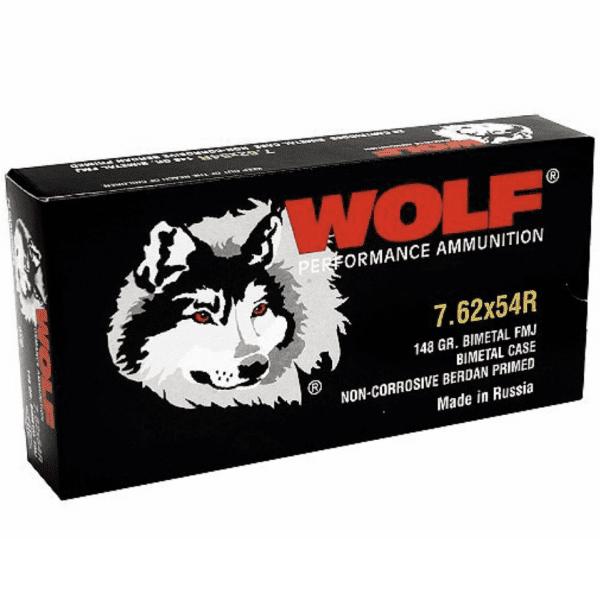 Wolf 7.62X54R Russian 148 GR FMJ Performance (20)