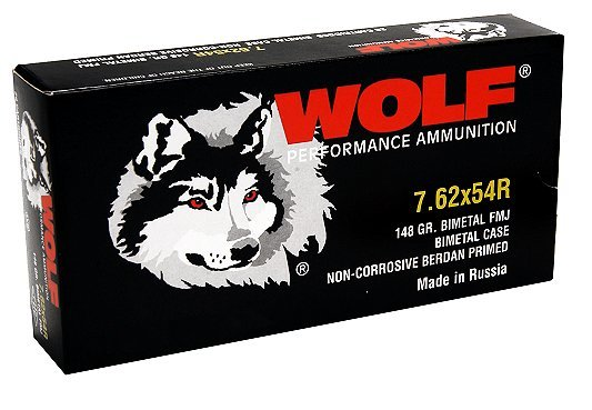 Wolf 7.62X54R Russian 148 GR FMJ Performance (20)