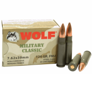 Wolf 7.62x39 124 Gr FMJ Non Corrosive Military Classic (20)