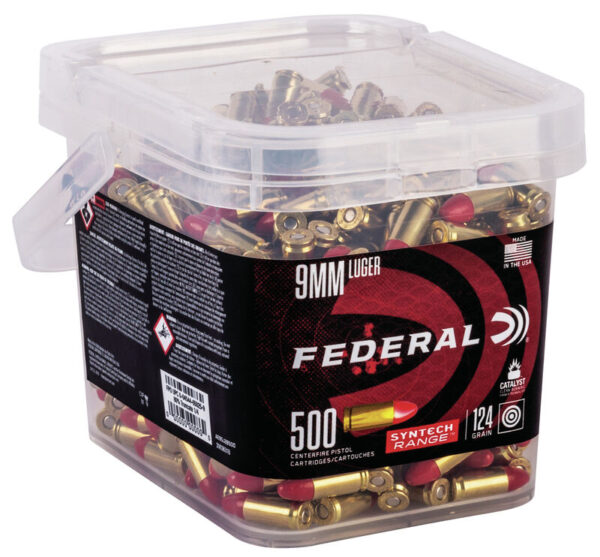 Federal 9MM 124 Gr TSJ American Eagle SYNTECH (500) Range Box