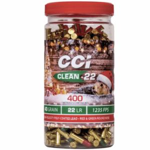 CCI 22 LR 40 Grain Lead Round Nose Clean-22 (400) Christmas Ammo
