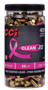 "CCI 22 LR 40 Grain Lead Round Nose Clean-22 (400) ""Pink"""