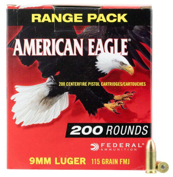 Federal 9MM 115 Gr American Eagle FMJ (200)