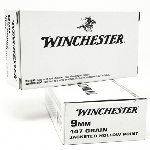 Winchester 9mm 147 Gr JHP (50) White Box