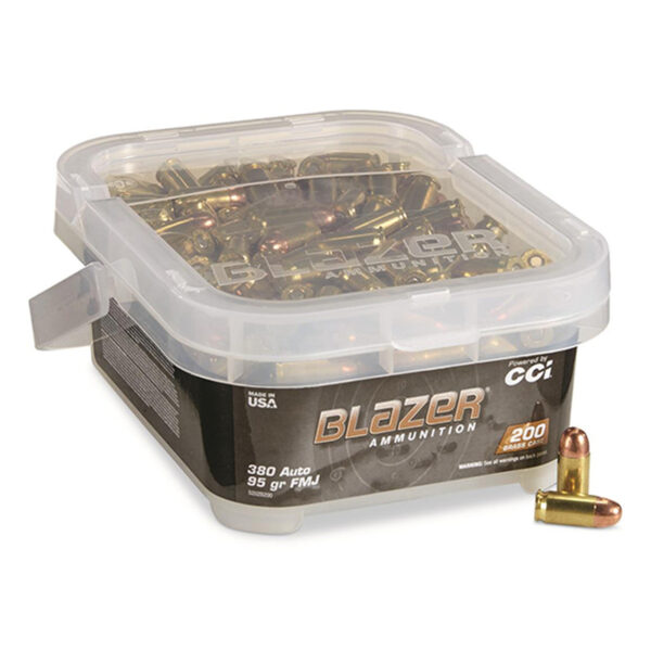 CCI Blazer Brass 380 ACP 95 Gr FMJ (200) Bucket