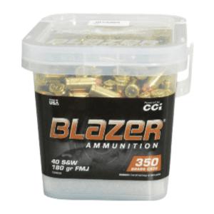CCI Blazer Brass 40 S&W 180 Gr FMJ-FN (350) Bucket