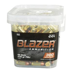 CCI Blazer Brass 45 Auto 230 Grain FMJ (300) Bucket