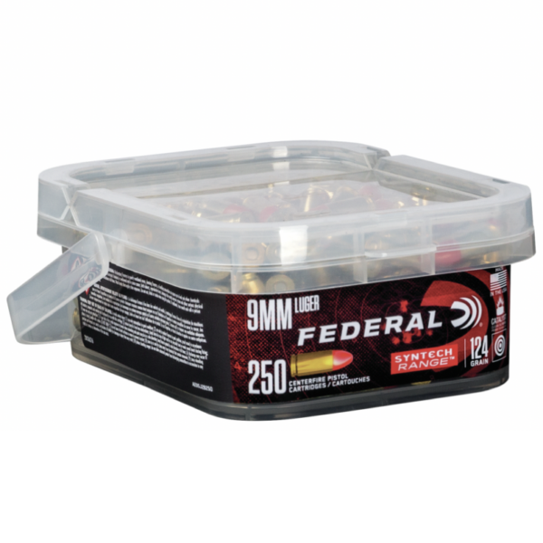 Federal 9MM 124 Gr TSJ American Eagle SYNTECH (250) Bucket