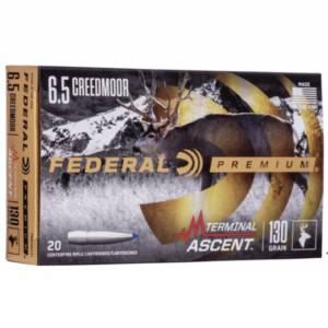 Federal 6.5 Creedmoor 130 Gr Terminal Ascent (20)