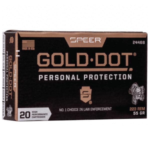 Speer 223 Rem 55 Gr Gold Dot Soft Point (20)