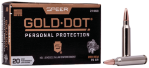 Speer 223 Rem 75 Gr Gold Dot Soft Point (20)