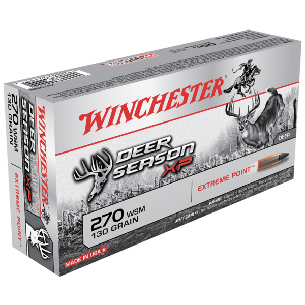 Winchester 270 WSM 130 Grain Extreme Point Deer Season XP (20)