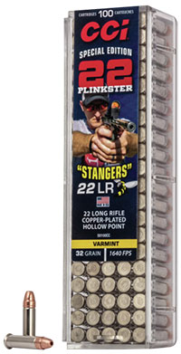 """CCI 22 LR 32 Gr Copper Plated HP """"Stangers"""" (100)"""