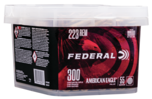 Federal 223 Rem 55 Gr American Eagle FMJBT (300) Bucket