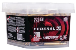 Federal 223 Rem 55 Gr American Eagle FMJBT (200) Bucket