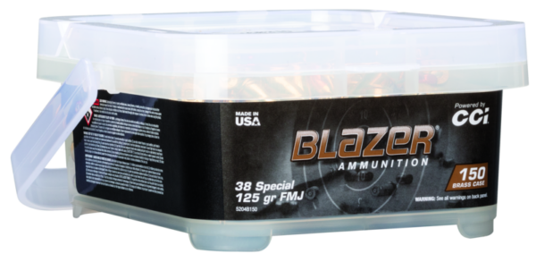 CCI Blazer Brass 38 Special 125 Gr FMJ-FN Bucket (150)