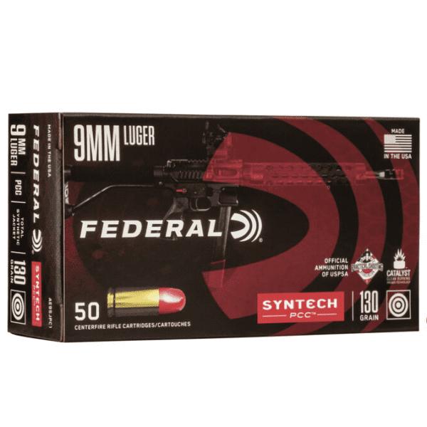 Federal 9MM 130 Gr TSJ American Eagle SYNTECH Pistol Cal Carbine (50)