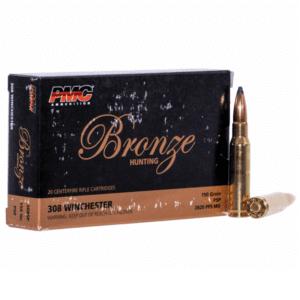 PMC 308 Win 150 Gr Bronze Brass Case Soft Point (20)